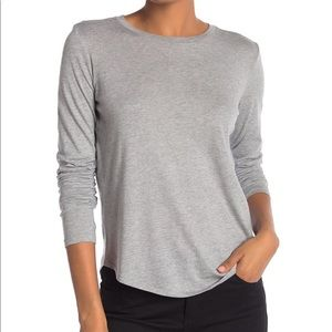 VINCE. | Grey long sleeve shirt